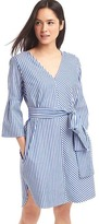 Gap Stripe front-tie dress