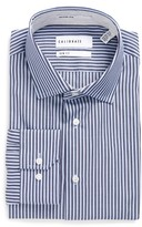 Men's Calibrate Trim Fit Stripe Dress Shirt