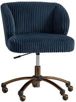 Midnight Chamois Wingback Desk Chair