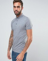 BOSS ORANGE by Hugo Boss Slim Fit Polo Shirt in Gray Marl