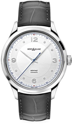 Montblanc Heritage Stainless Steel & Alligator Strap Automatic Watch