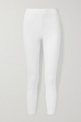 Skin Ilanit Ribbed Stretch-pima Cotton-jersey Leggings - White