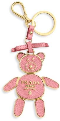 Prada Saffiano Leather Bear Keychain