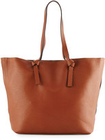 Neiman Marcus Knots Faux-Leather Tote Bag, Earth