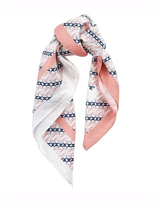Barbour Monogram Silk Square Scarf - Pink