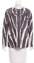 Fendi Zebra Print Ponyhair Jacket