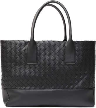 Bottega Veneta Black Woven Leather Tote