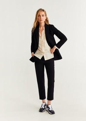MANGO Straight suit trousers black - 2 - Women