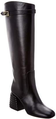 Fendi Promenade Leather Knee High Boot