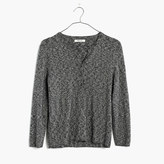 Madewell Marled Henley Pullover Sweater