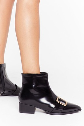 Nasty Gal Womens Better Buck Next Time Patent Faux Leather Boots - black - 3