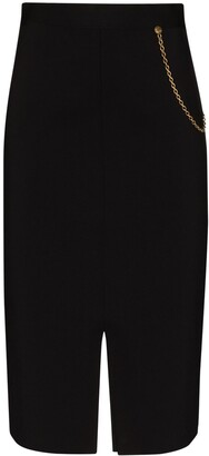 Givenchy Cady chain-detail pencil skirt