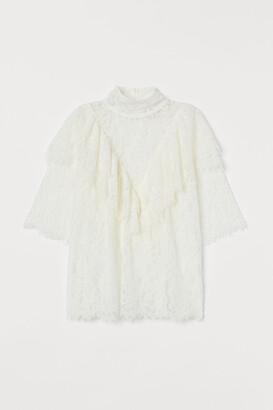 H&M Flounced lace blouse