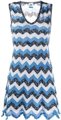 M Missoni knitted zigzag dress