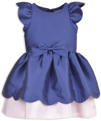 Hucklebones London Bow Scalloped Dress (2-12 Years)