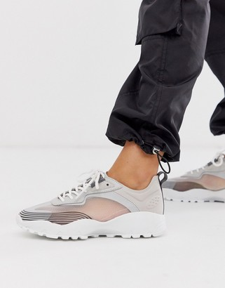 ASOS DESIGN Drive chunky sneakers in gray mix