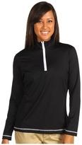 Cutter & Buck DryTec L/S Choice Zip Mock Top (Black) - Apparel