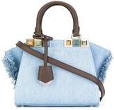 Fendi Mini 3 Jour Studded Denim Bag