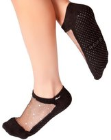 Shashi Glitter Mesh Non Slip Ergonomic Socks Pilates Barre Ballet Yoga Dance ...