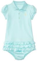 Polo Ralph Lauren Ruffled Polo Dress & Bloomer (0-24 Months)