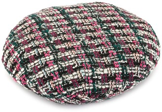 Maison Michel Flore tweed beret