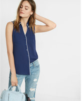 Express original fit piped sleeveless portofino shirt