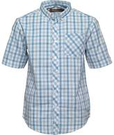 Ben Sherman Junior Boys Multi Coloured Gingham Poplin Shirt Sky Blue