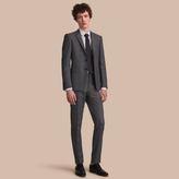 Burberry Slim Fit Check Half-canvas Wool Suit