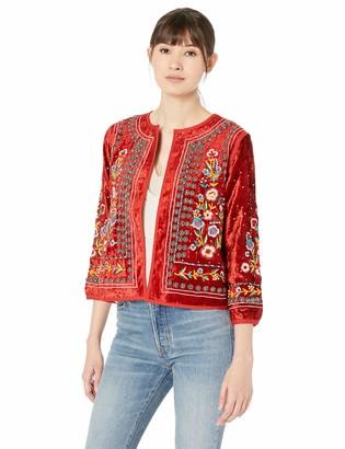Velvet by Graham & Spencer Women's Nita Embroidered Jacket