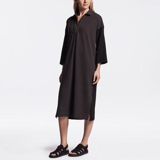 James Perse Fresca Jersey Draped Polo Dress