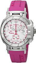 Tissot Women's T0482171701701 T-Race Dial Pink Silicone Strap Watch
