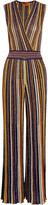 Missoni Metallic Knitted Jumpsuit - Purple