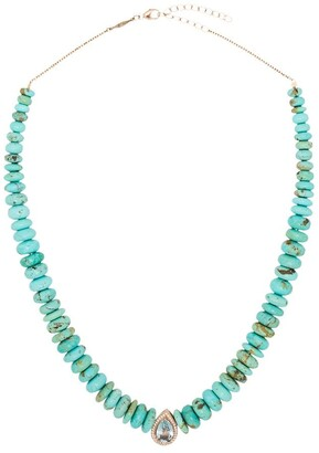Jacquie Aiche 14kt Rose Gold Multi-Stone Necklace