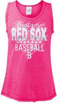 5th & Ocean Girls' Boston Red Sox Clear Glitter Tank Top