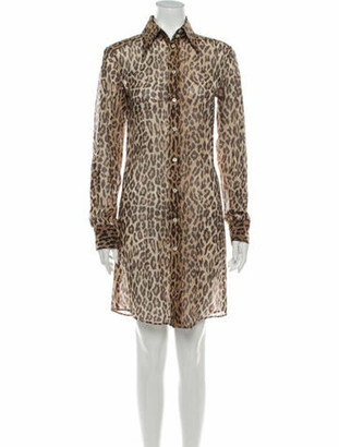 Dolce & Gabbana Animal Print Knee-Length Dress