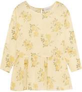 The Great The Wanderer Floral-print Cotton-gauze Top - Pastel yellow