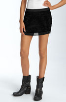 Beaded Silk Miniskirt