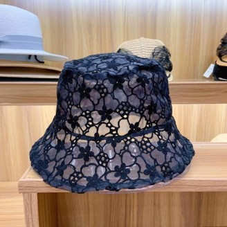 MZW Soft lace Flower lace Wide-Brimmed Sun hat Floppy Summer hat Lady hat Fisherman caps Leisure caps a Sun hat