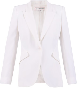 Alexander McQueen Single Button Closure Blazer
