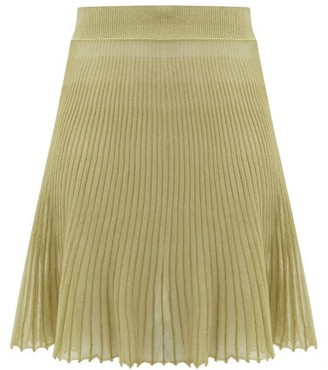 Jacquemus Helado Cotton-blend Gauze Skirt - Green