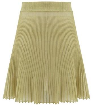 Jacquemus Helado Cotton-blend Gauze Skirt - Womens - Green