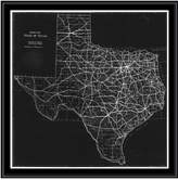 PTM Images Texas Map Canvas with Floater Frame