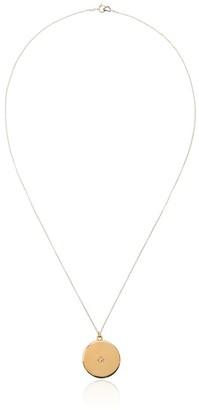 Sasha Samuel Maxine circular gold-plated locket necklace