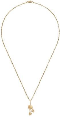 Kiki McDonough 18kt yellow gold Lauren diamond tripple leaf pendant