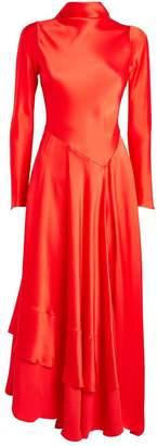 Amanda Wakeley Tie Detail Satin Dress