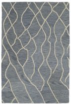 Peaks Hand-tufted Utopia Blue Wool Rug (4' x 6')