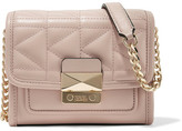 Karl Lagerfeld K/kuilted Mini Leather Shoulder Bag - Blush