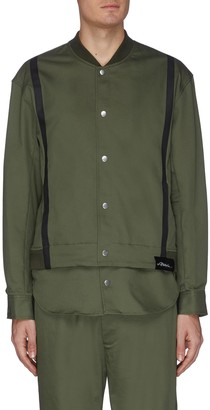 3.1 Phillip Lim Removable shirttail contrast tape bomber jacket