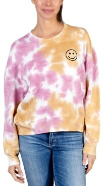 Rebellious One Smiley-Face Tie-Dyed Sweatshirt