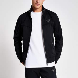River Island Black MCMLX zip front racer jacket